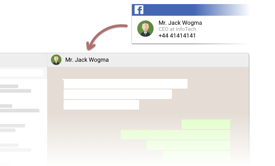 Save customer data from anywhere on the web & start chatting with them right away on whatsapp! Save from GMail, LinkedIn, Salesforce, & other CRMs.